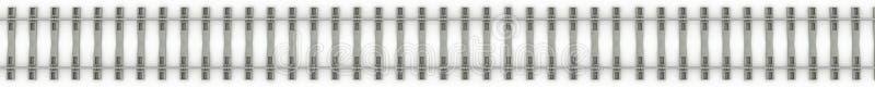 Железные рельсы на белой предпосылке растр 4 бесплатная иллюстрация