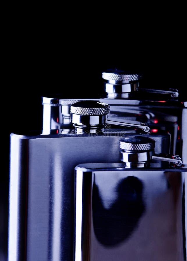 Железные склянки стоковые фотографии rf
