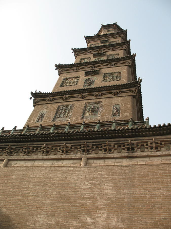 Железный висок Linfen Шаньси Китай Будды стоковое изображение