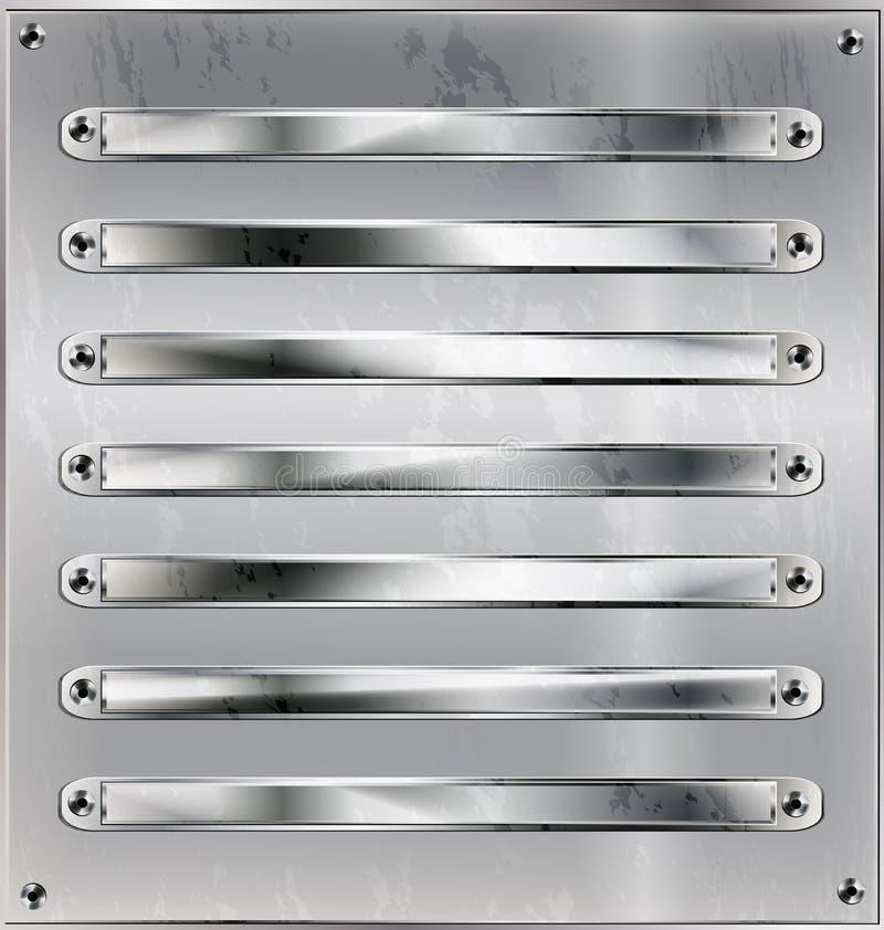 Железный лист и линии иллюстрация штока