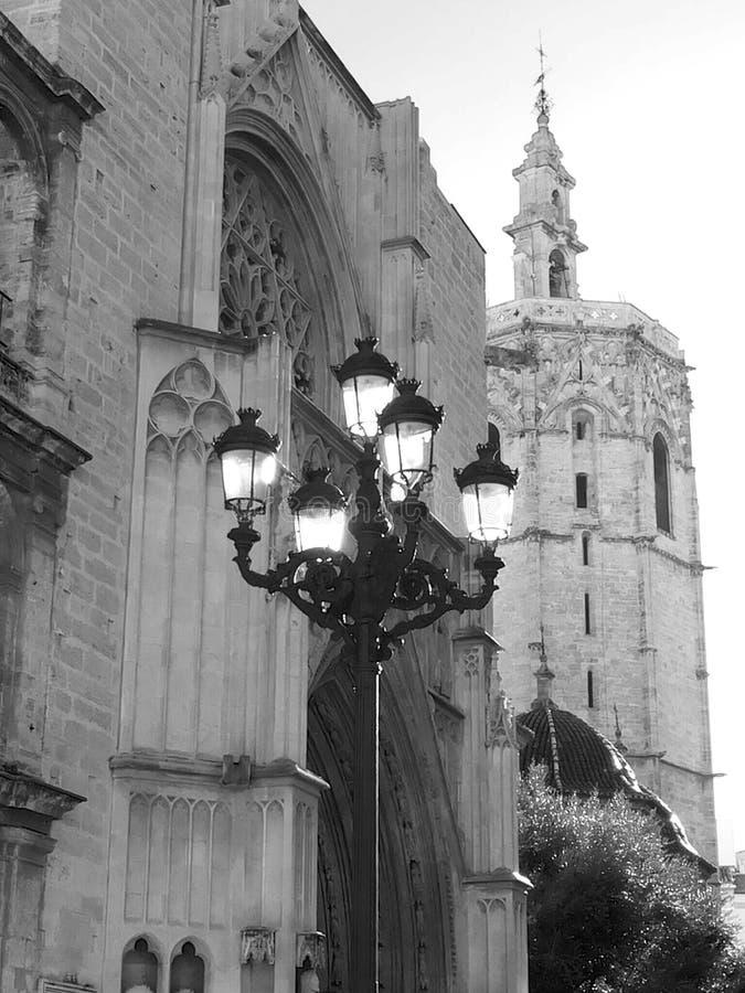 Железный фонарик улицы работы стоковое изображение rf