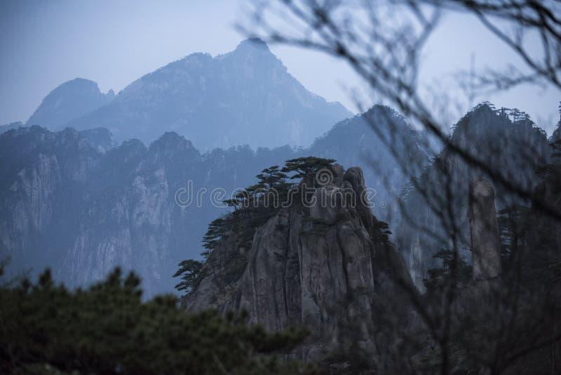 Желтая гора Huangshan Китай стоковое фото