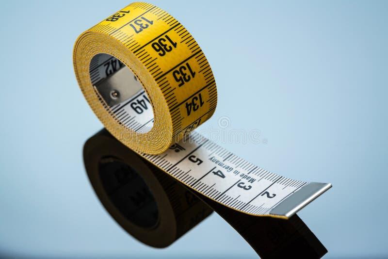 Желтая лента измерения стоковое фото rf