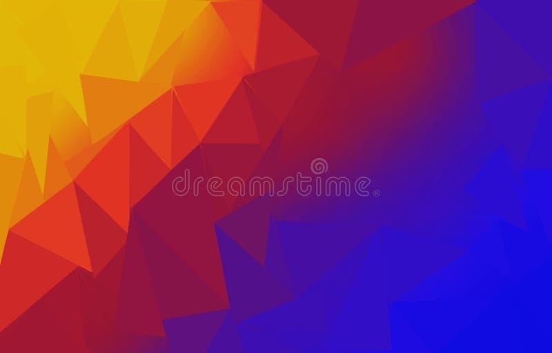 Желтая и красная голубая предпосылка стоковые изображения rf