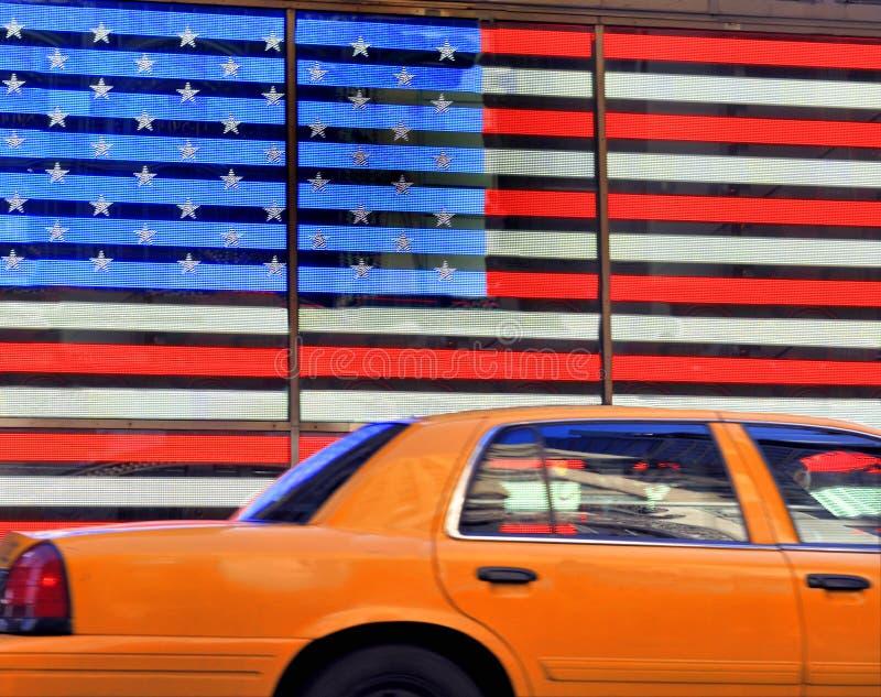 Желтая кабина в NY стоковое фото