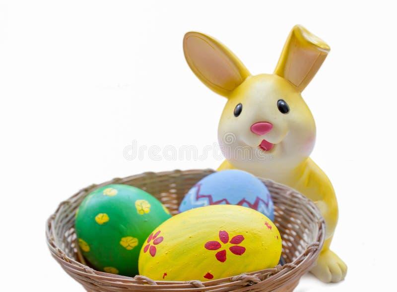 Желтая копилка кролика стоковое изображение