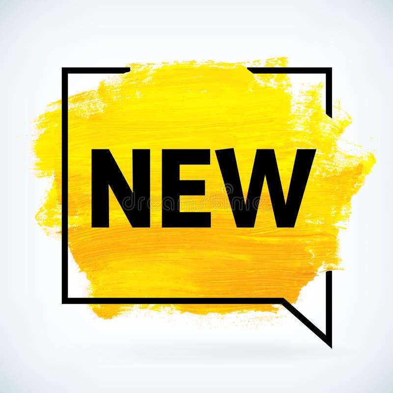 Желтая краска руки художническая сушит ход щетки с текстом новым иллюстрация штока