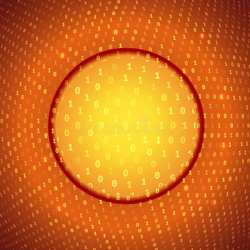 Желтая оранжевая абстрактная бинарная предпосылка иллюстрация штока