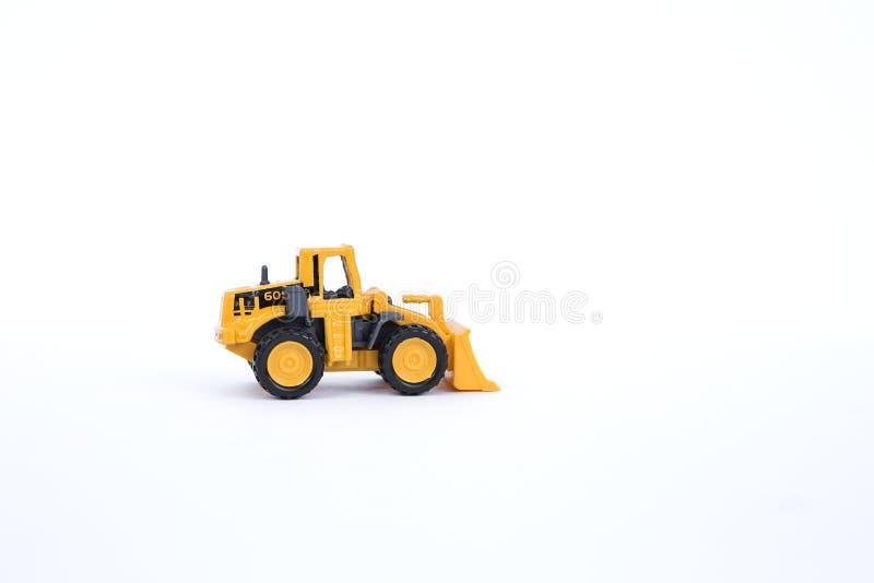 Желтая передняя тележка затяжелителя стоковые изображения rf