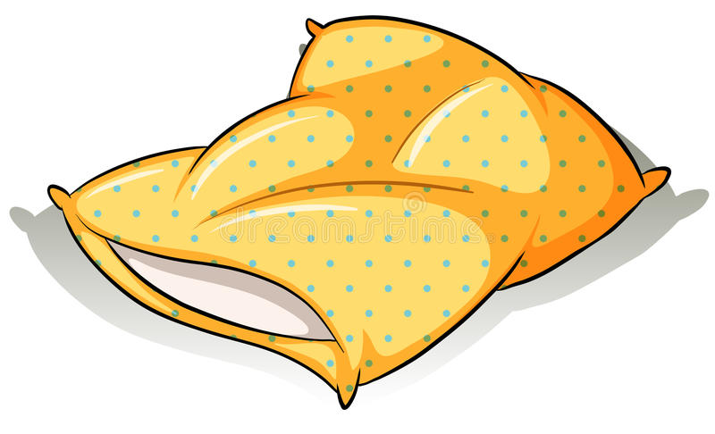 Желтая подушка бесплатная иллюстрация
