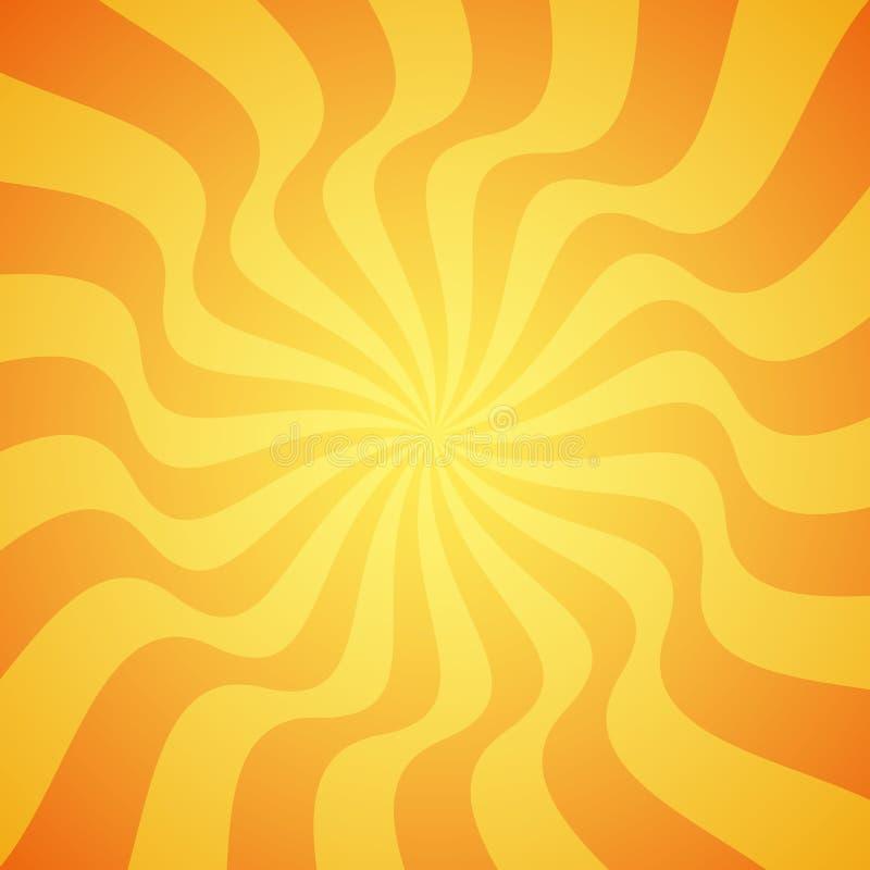 Желтая предпосылка солнечного луча grunge Солнце излучает абстрактные обои Поверхностный дизайн картины с симметричными линиями о иллюстрация штока