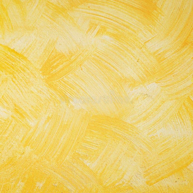 Желтая предпосылка стены цемента grunge стоковые фото