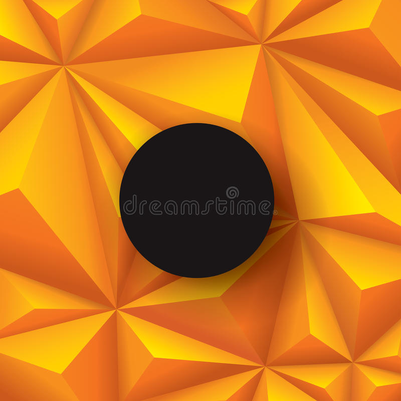 Желтая предпосылка Vector геометрическая предпосылка иллюстрация вектора