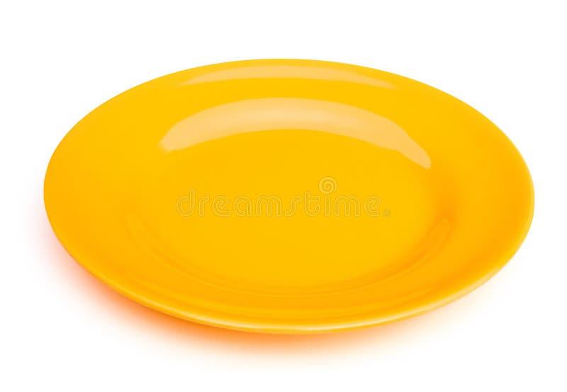 Желтая пустая плита стоковая фотография rf
