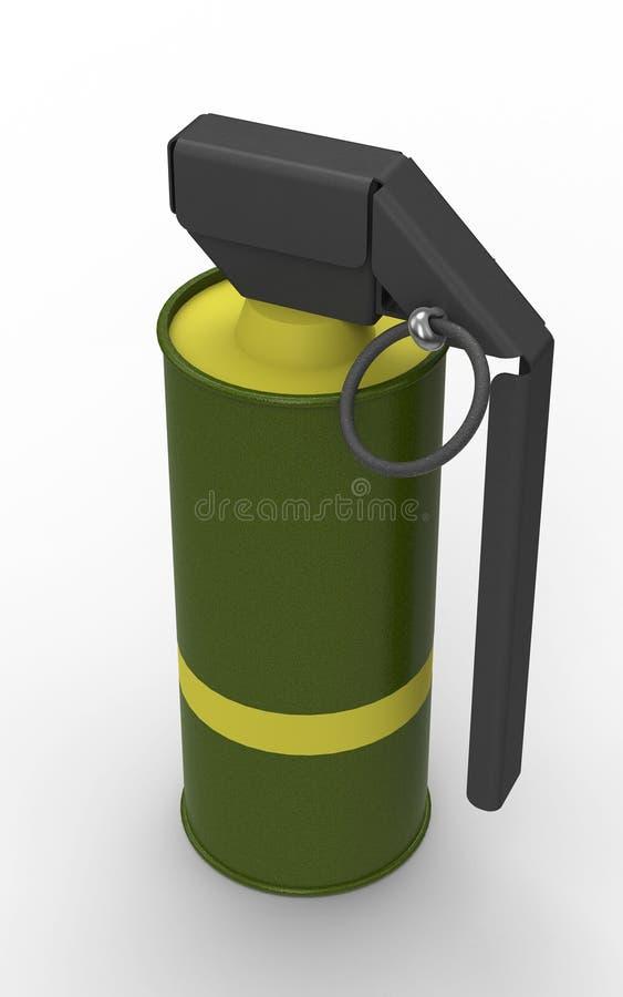 Желтая ручная граната дыма стоковая фотография rf