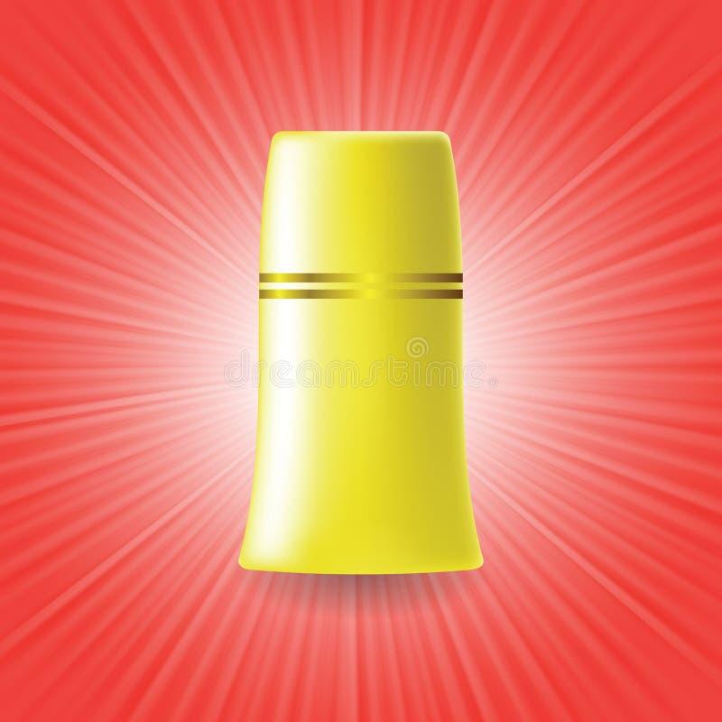 Download Желтая трубка иллюстрация вектора. иллюстрации насчитывающей гель - 40586385