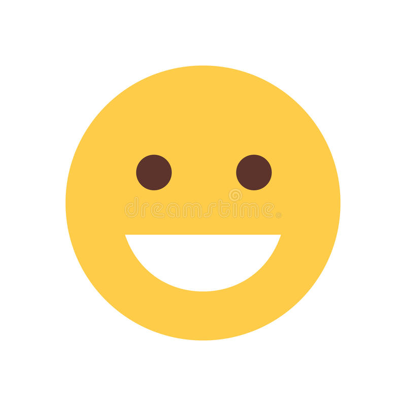 Желтая усмехаясь сторона шаржа смеясь над значком эмоции людей Emoji бесплатная иллюстрация