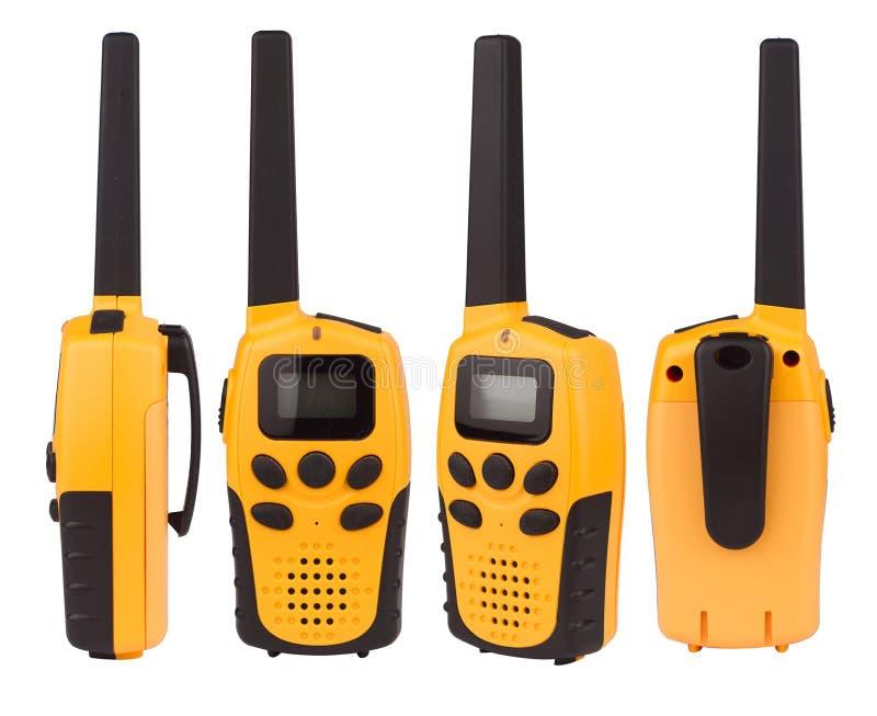 Желтое звуковое кино walkie изолированное на белизне стоковые изображения