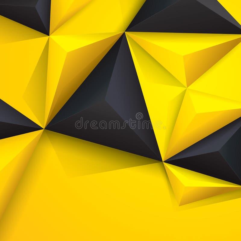 Желтое и черное геометрическое ƒ ¹ backgroundà иллюстрация вектора