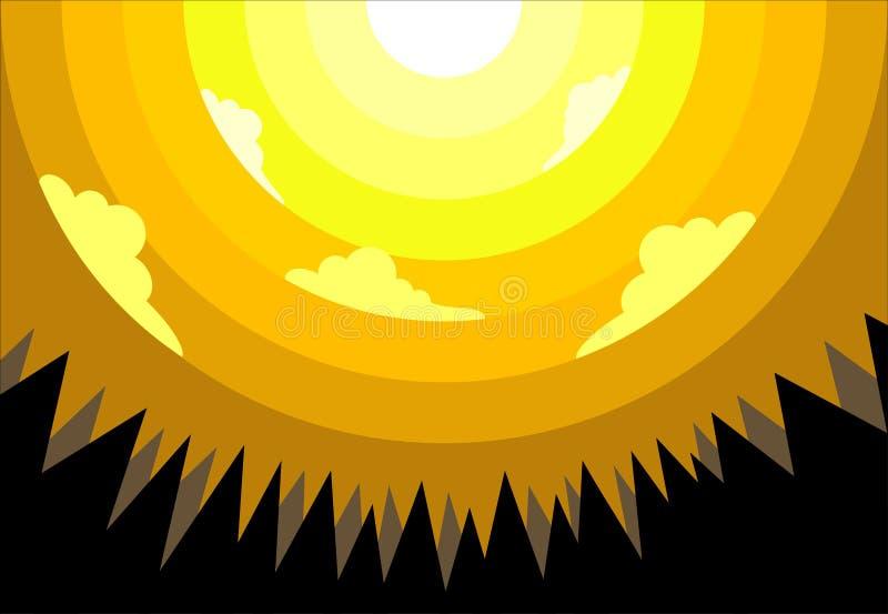 Желтое утро стоковые фото