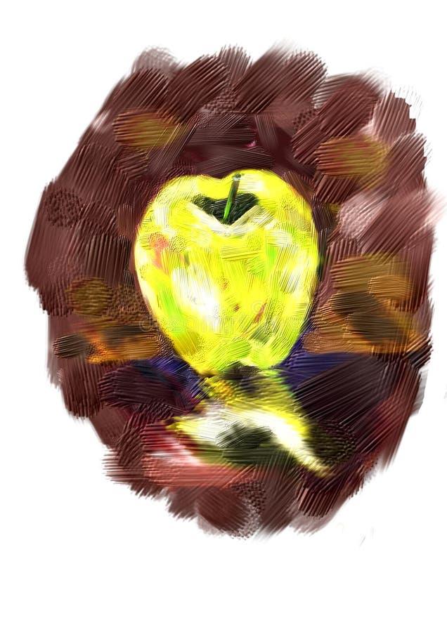 Желтое яблоко стоковая фотография rf