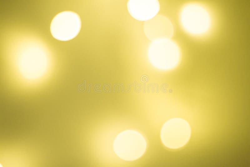 Желтое bokeh стоковые изображения rf