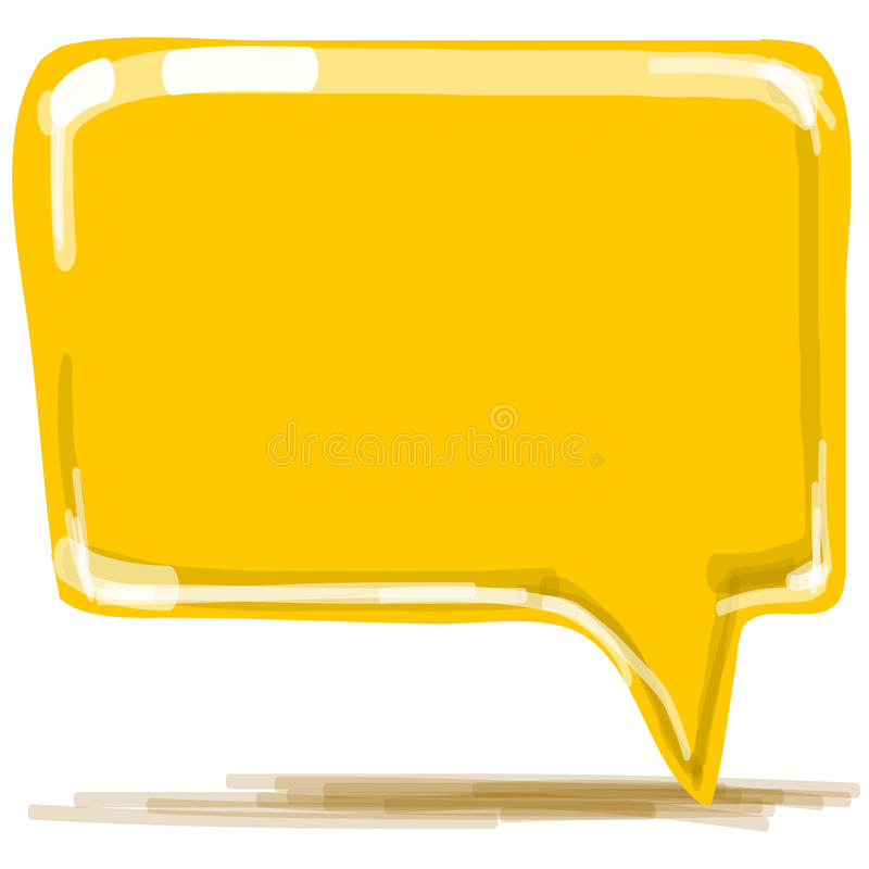 Желтое illusrtation вектора шаржа пузыря речи бесплатная иллюстрация