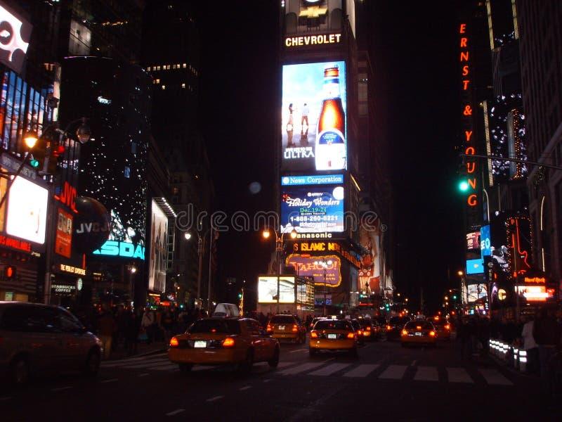 Желтые кабины на Таймс площадь, Нью-Йорке стоковые фото
