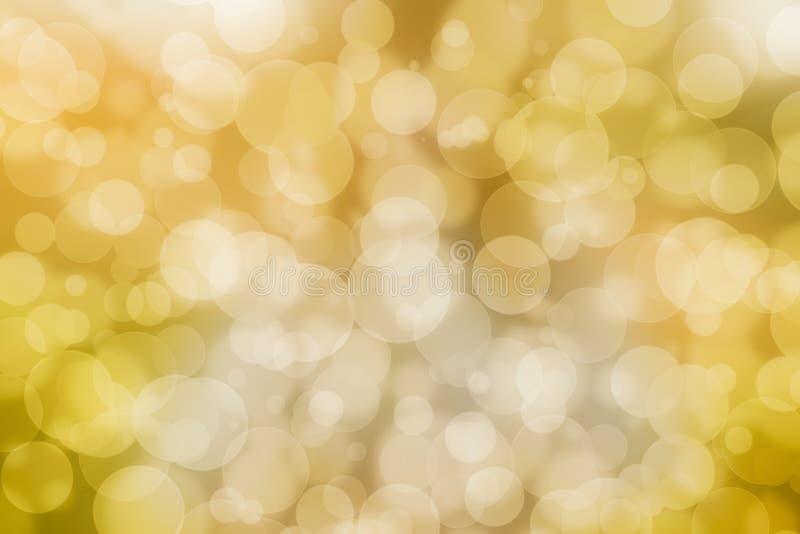 Желтые обои bokeh стоковое изображение rf