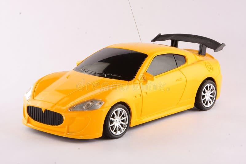 Желтый автомобиль для детей стоковое фото rf