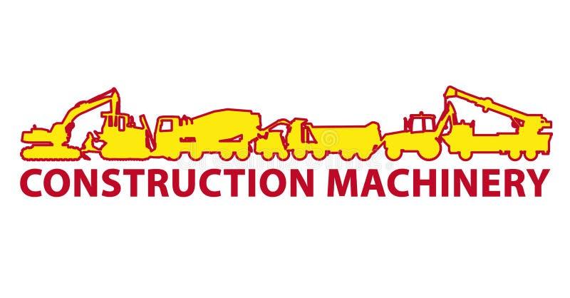 Желтый большой землекоп строит копать экскаватором дорог отверстия, работ земли Работы строительной техники и земли иллюстрация штока