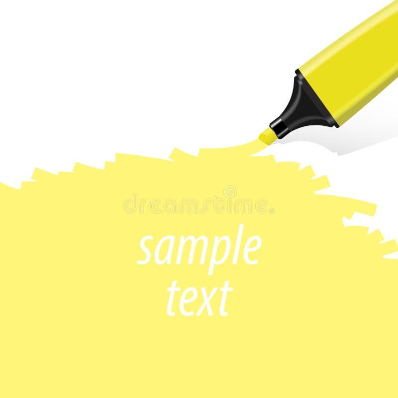 Желтый вектор highlighter стоковые изображения rf