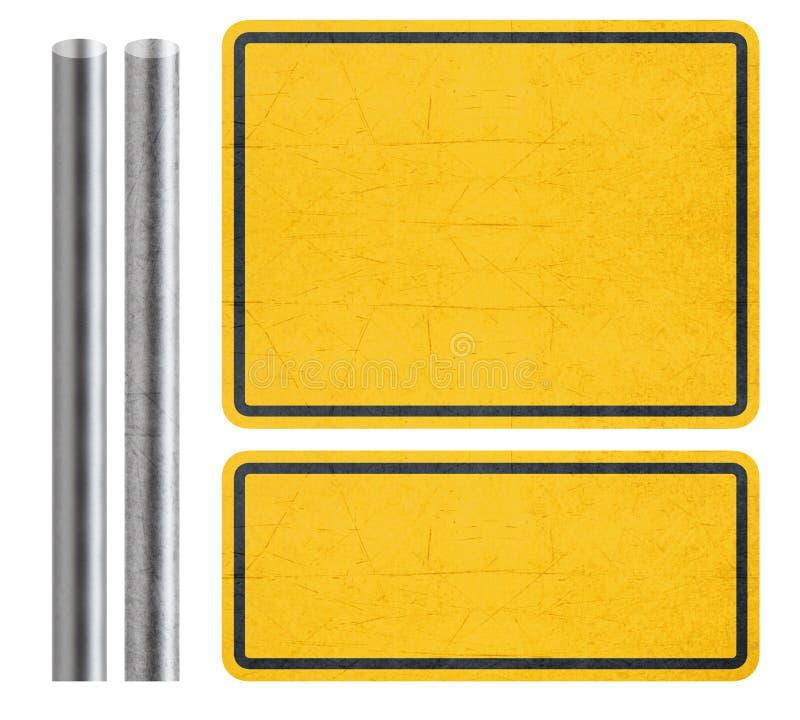 Желтый знак стоковая фотография