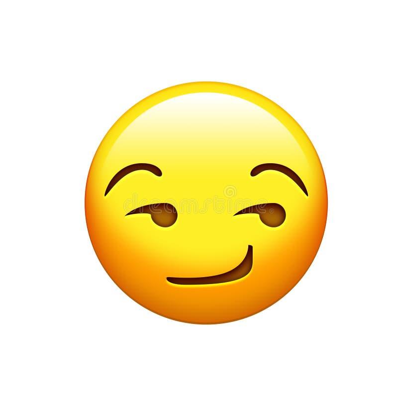 желтый зловещий значок стороны улыбки иллюстрация штока