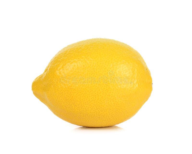 Желтый лимон изолированный на белой предпосылке стоковая фотография