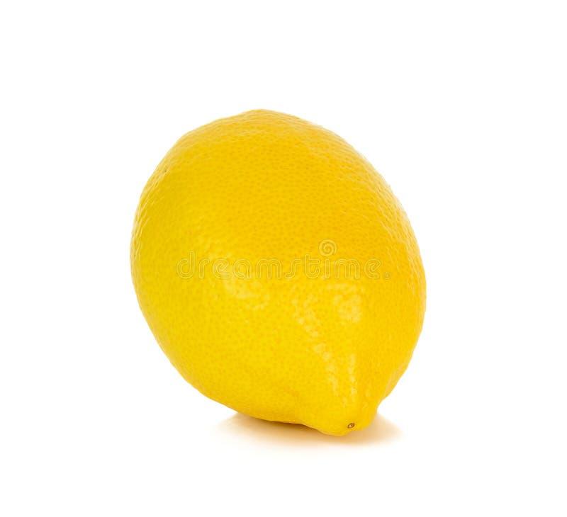 Желтый лимон изолированный на белой предпосылке стоковые фотографии rf