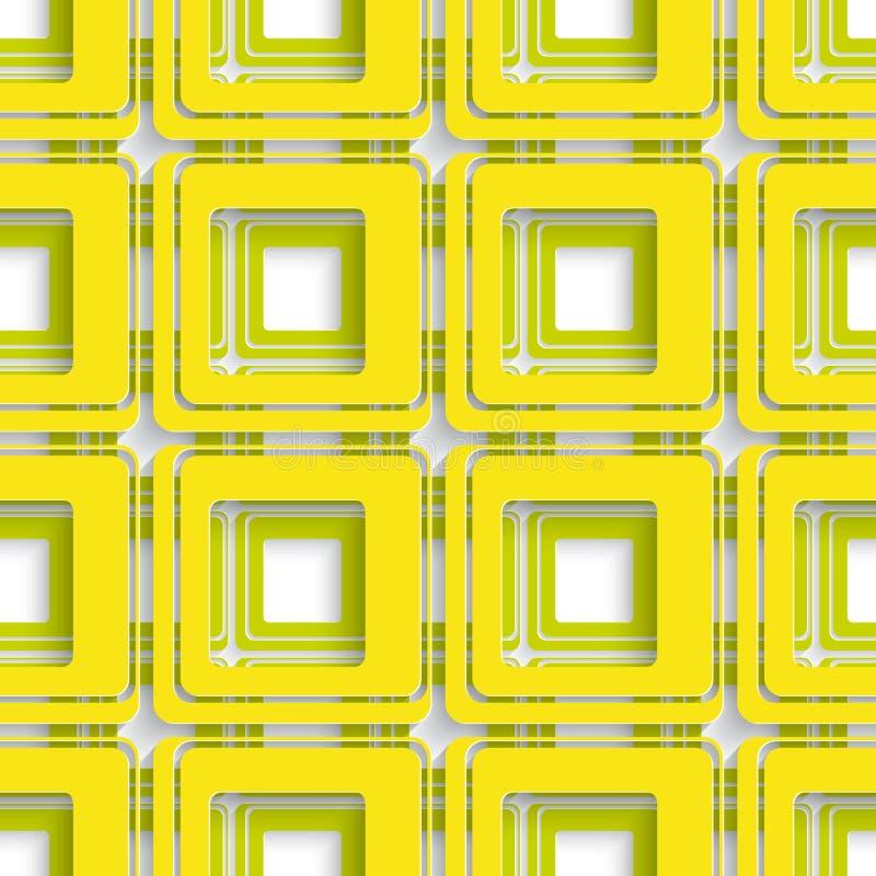 Желтый и зеленый квадратный конспект иллюстрация штока