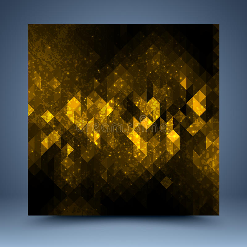 Желтый и черный абстрактный шаблон