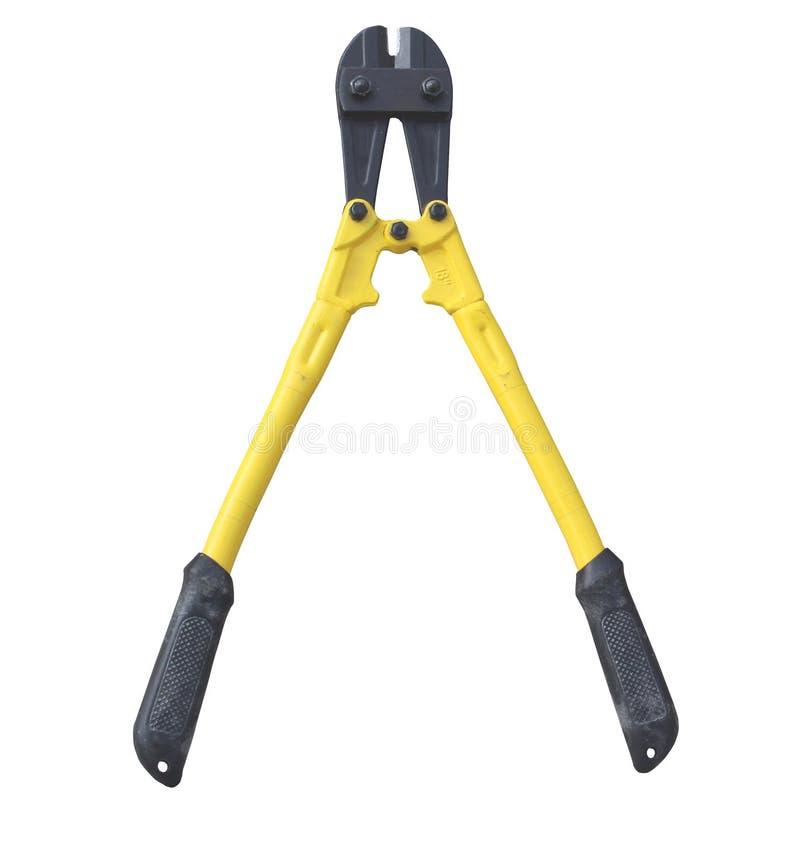 Желтый и черный isolared инструмент для нарезания болтов стоковое фото