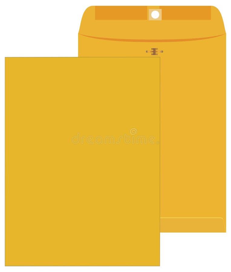 Желтый конверт иллюстрация вектора