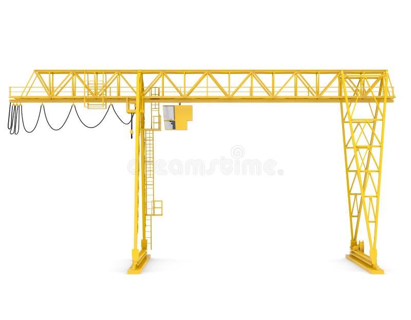Желтый мостовой кран портала бесплатная иллюстрация