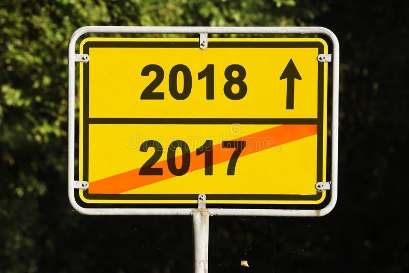 Желтый поворот знака года стоковые изображения rf