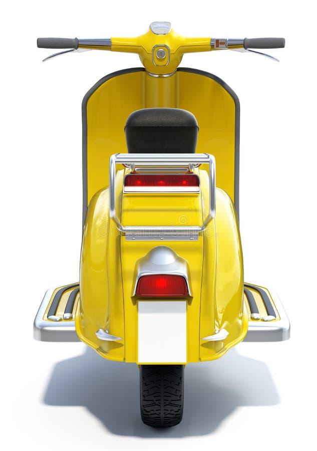 Желтый ретро самокат бесплатная иллюстрация