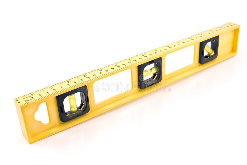 Желтый уровень здания стоковая фотография rf