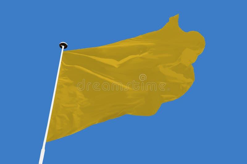 Желтый флаг стоковое фото