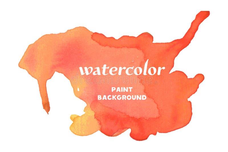 желтый цвет акварели стародедовской предпосылки темный бумажный Watercolour красного цвета вектора иллюстрация штока