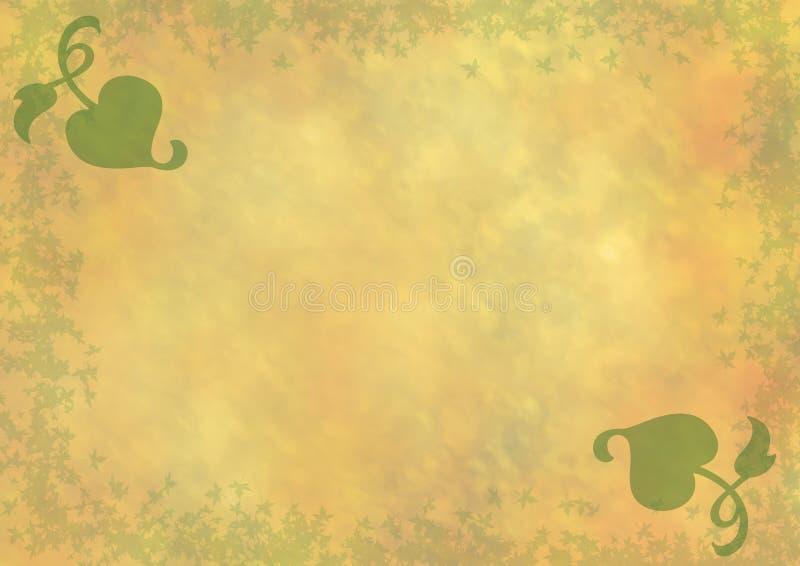 Желтый цвет - апельсин - зеленая предпосылка стоковое изображение rf