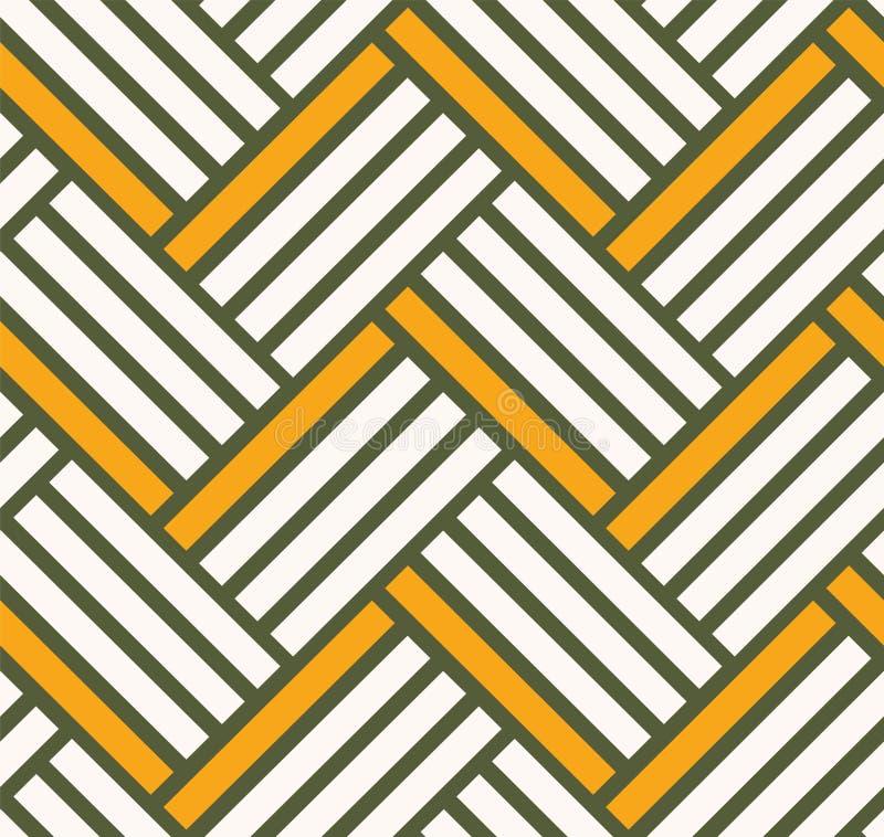 Желтый цвет и зеленый цвет картины предпосылки кирпича иллюстрация вектора