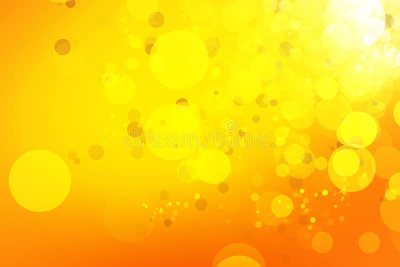 Желтый цвет и предпосылка bokeh золота стоковые изображения