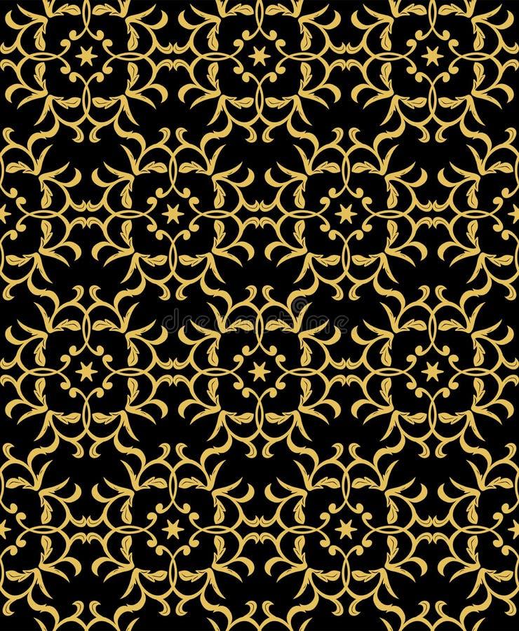 желтый цвет картины сердца цветков падения бабочки флористический барокк, штоф иллюстрация штока